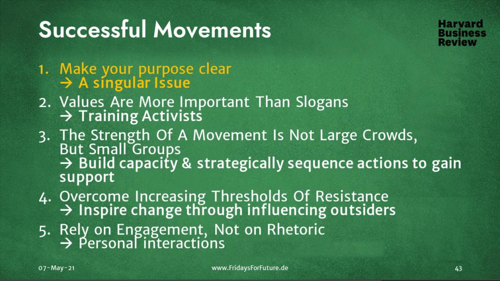 Harvard - Successful Movements