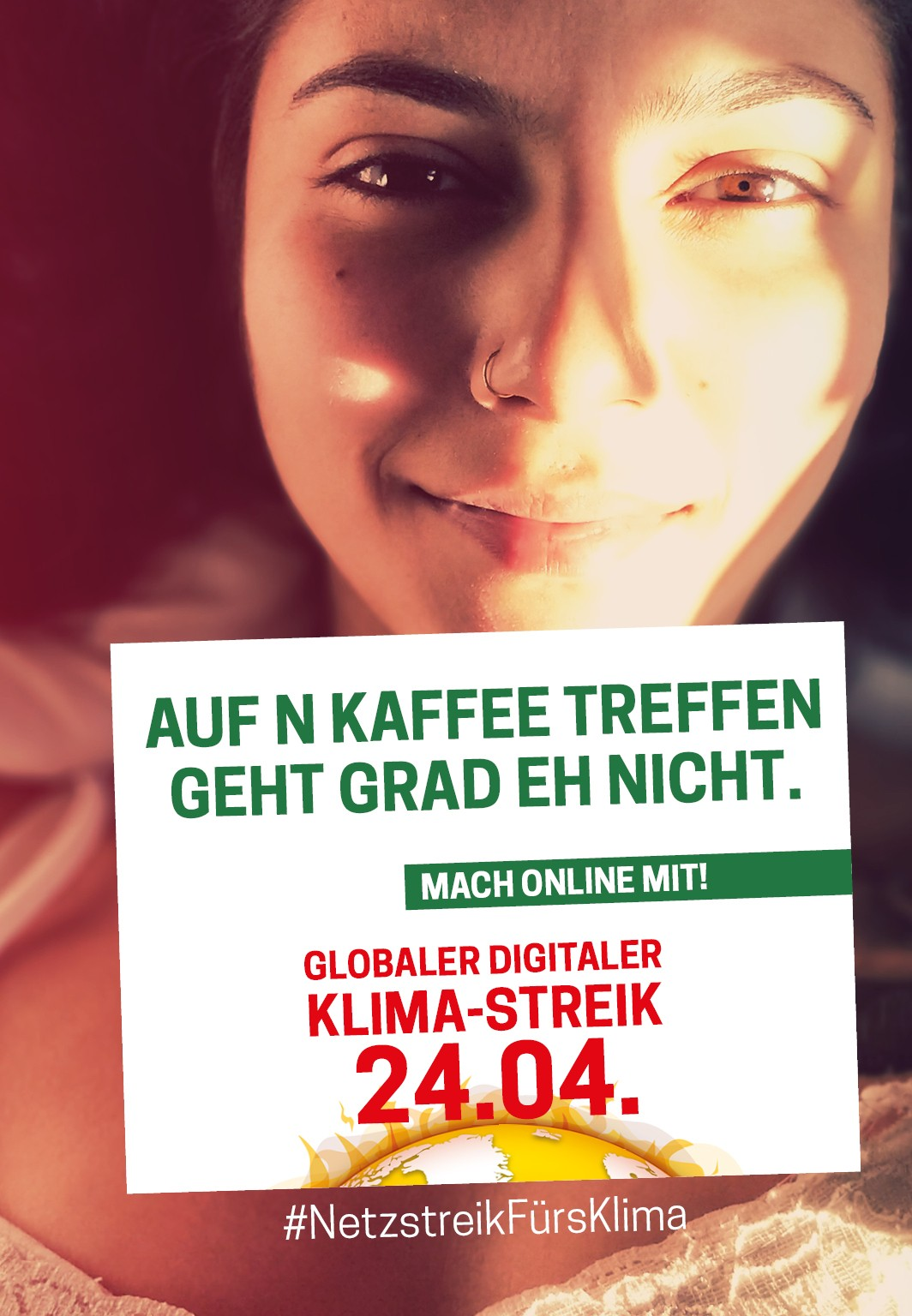 www. klima-streik.org - 24.04 campaign - tinder ad