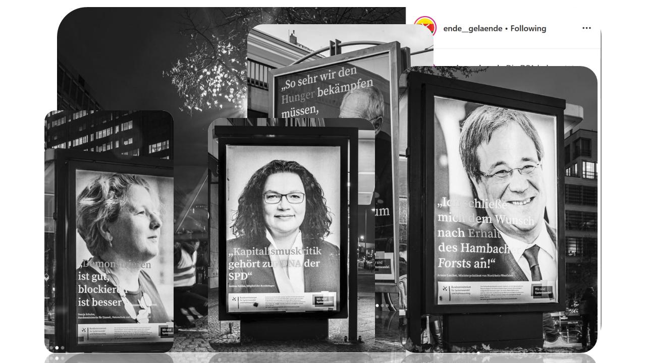 culture jamming - billboards - politicians