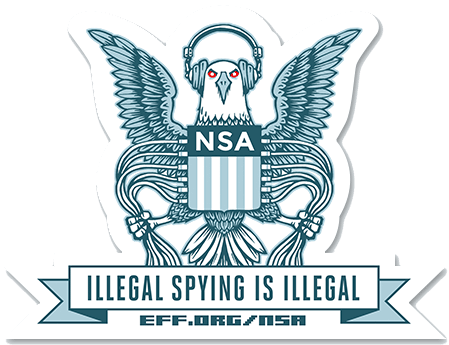 Electronic Frontier Foundation / fight the spying campaign / NSA info