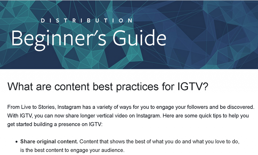 facebook business - instagram guidelines
