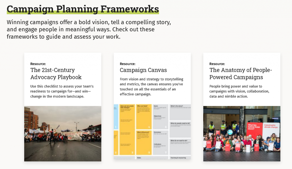 canvas - campaign planning framework