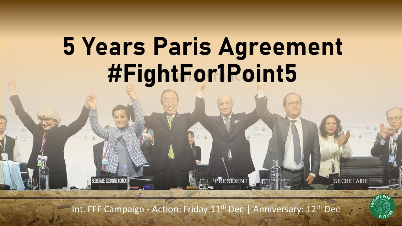 FightFor1Point5 - 5 Years Paris