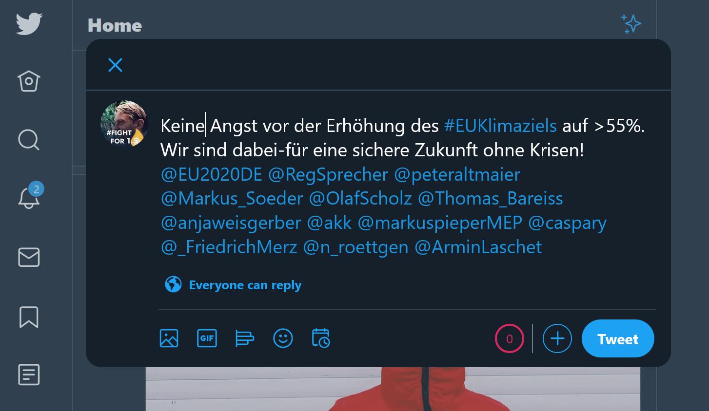 Zukunft Sichern - Action - Tweet